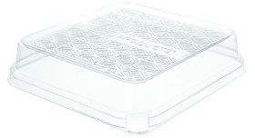 Eco-Products 7 in. 3-Cmpt Square – WorldView™ Renewable & Compostable Lid