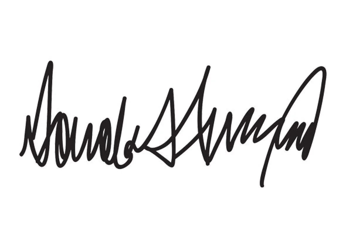 Donald Trump S Horrifying Signature Is A Cry For Help