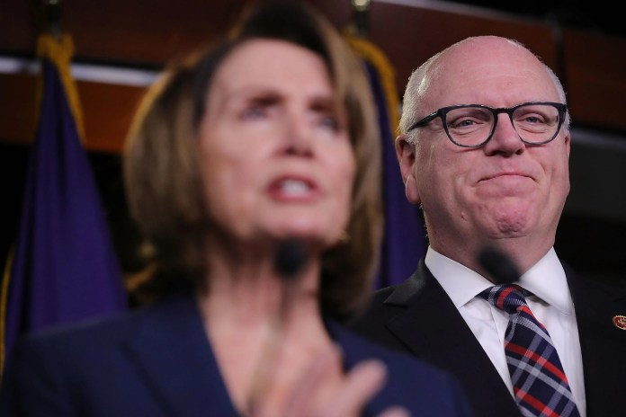 Reps. Nancy Pelosi and Joe Crowley.