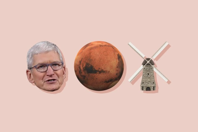 Tim Cook, Mars, and a windmill.