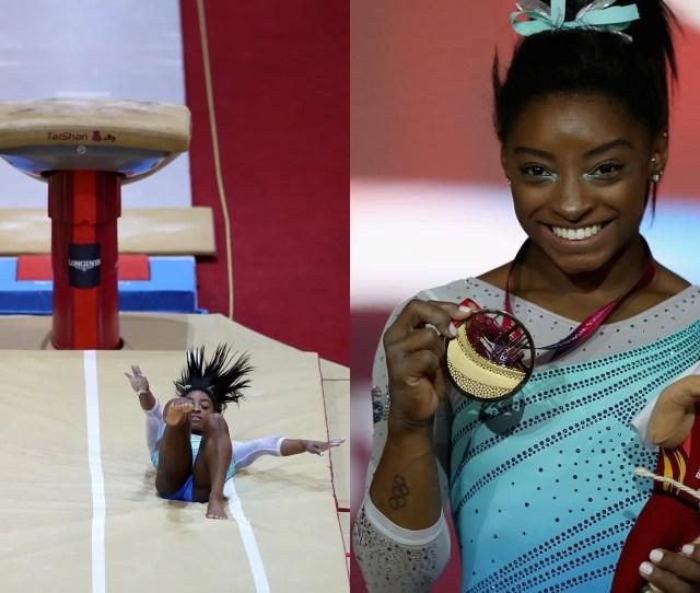 Simone Biles Falls At The  World Gymnastics Championships Showed Shes Kind Of Human
