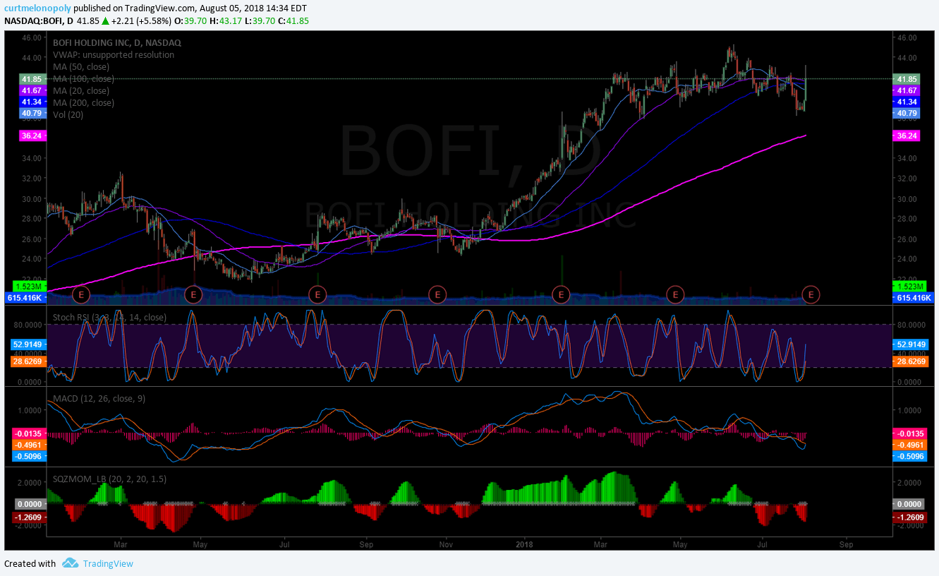 BOFI, earnings, chart, setup