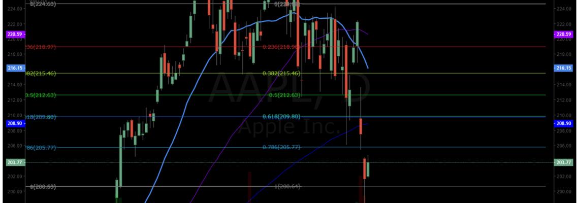APPLE, chart, premarket, swing trade