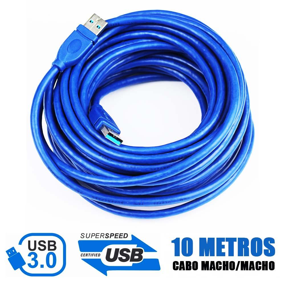 Cabo USB 3.0 10 Metros