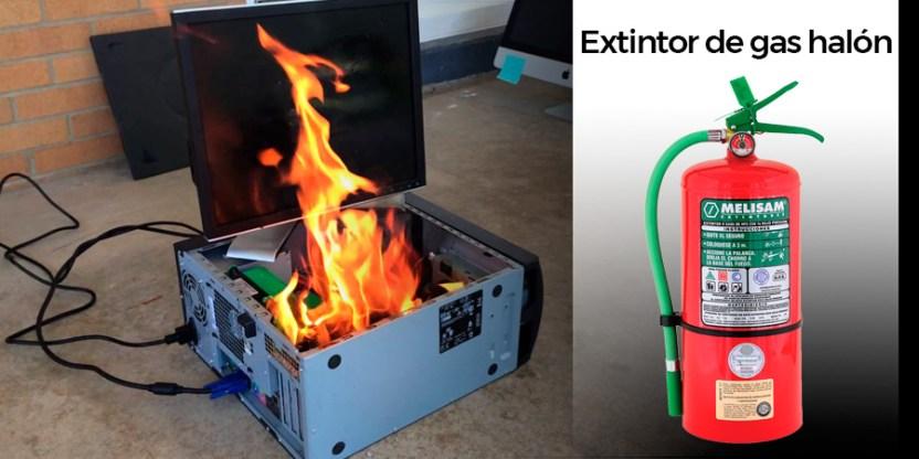 Extintor de gas halón