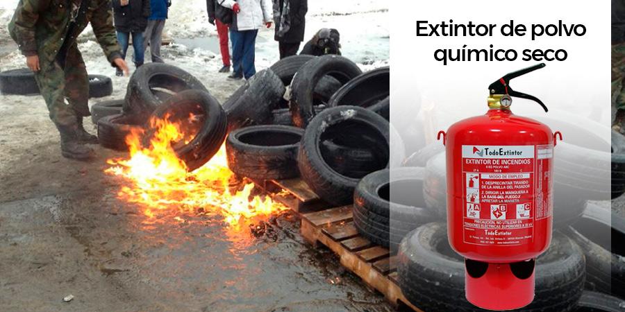 Extintor de polvo químico seco