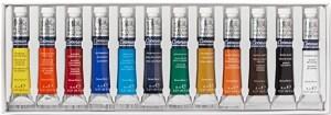 Set de acuarelas Winsor & Newton - Juego de tubos de pintura para acuarela (8 ml, 12 unidades)