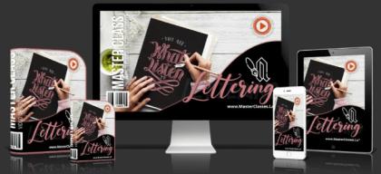 Varias pantallas mostrando el logo del curso de Lettering en Hotmart