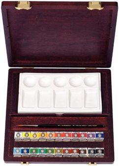 Acuarelas Profesionales - Rembrandt - Caja de madera con 22 pastillas