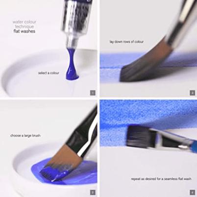 acuarelas winsor and newton cotman 45 - Ejemplos pintando color azul