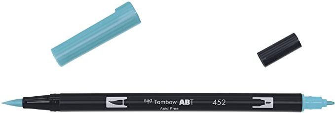 Rotuladores Acuarelables Tombow - Rotulador azul horizontal abierto por las dos puntas