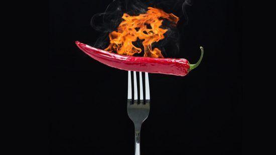 Comida picante para quemar calorías