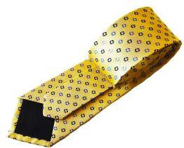 Corbata oro con topitos