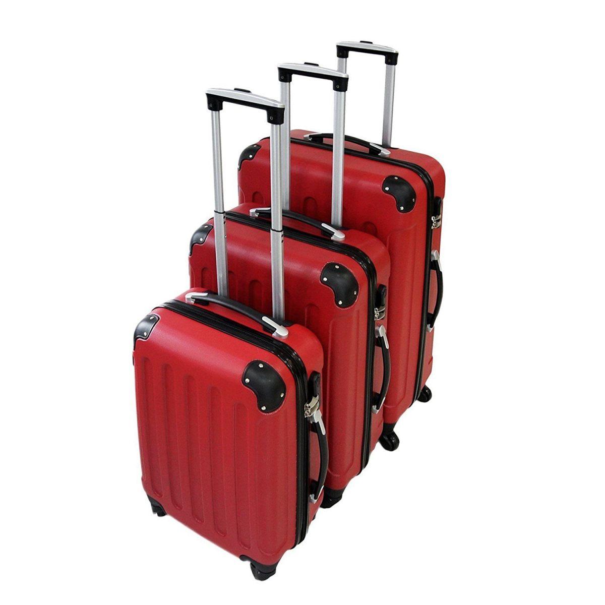 Set de 3 maletas trolley Todeco, maletas sólidas con ruedas. Análisis detallado.