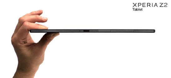 Sony Xperia Z2 Tablet: extremadamente fina