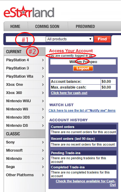 Comprar jogos pela internet: eStarland