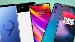 melhores smartphones 2018