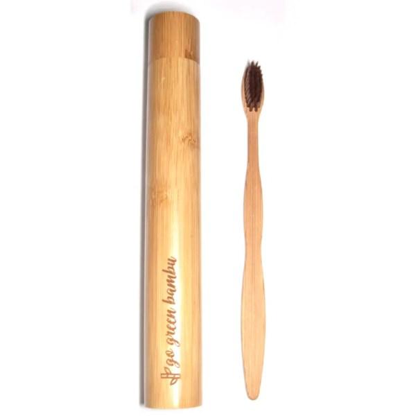 Cepillo de bambú y estuche Costa Rica Sin Plástico