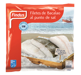 Filetes de Bacalao congelado Findus