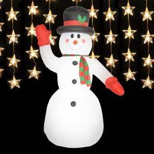 Muñeco de Nieve Inflable con LED de 300 cm