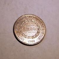 BRASIL 1866 PEDRO II 1000 REIS. E.B.C+