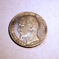 FRANCIA LUIS NAPOLEON BONAPARTE 5 FRANCOS A 1852 M.B.C.-