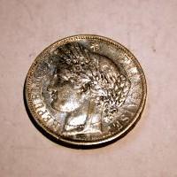 FRANCIA REPUBLICA 1851 5 FRANCOS A. M.B.C+