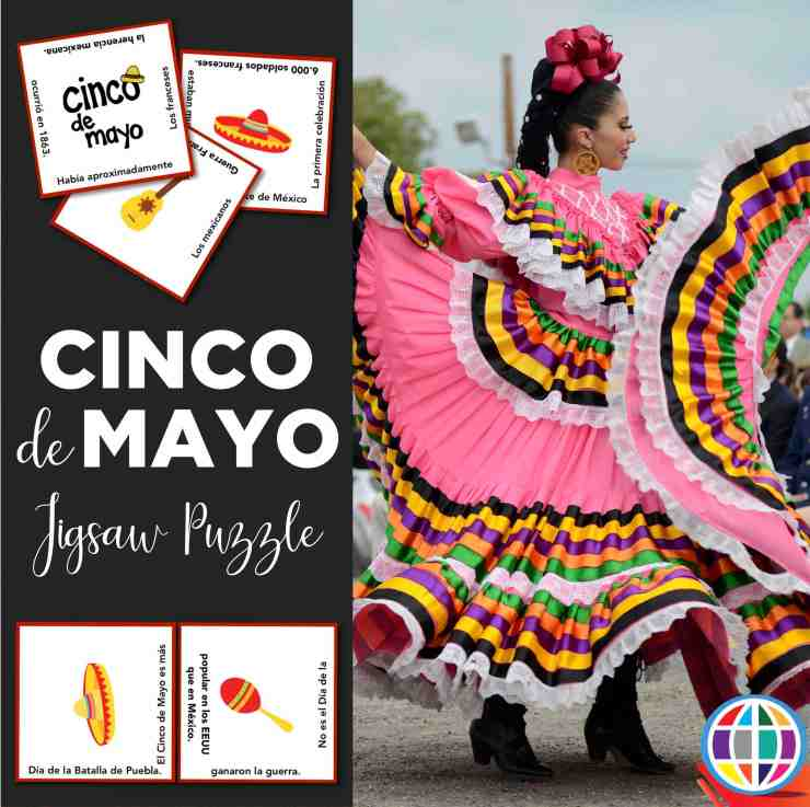 Cinco de Mayo for Spanish classes! Students learn the real history behind the celebration with this FREE Jigsaw Puzzle!