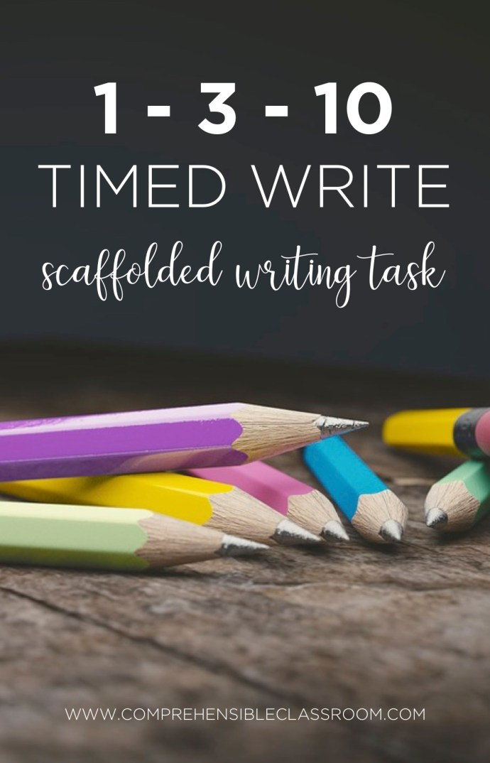 1 3 10 timed writes are the best way for students to have processing time built into their writing task!