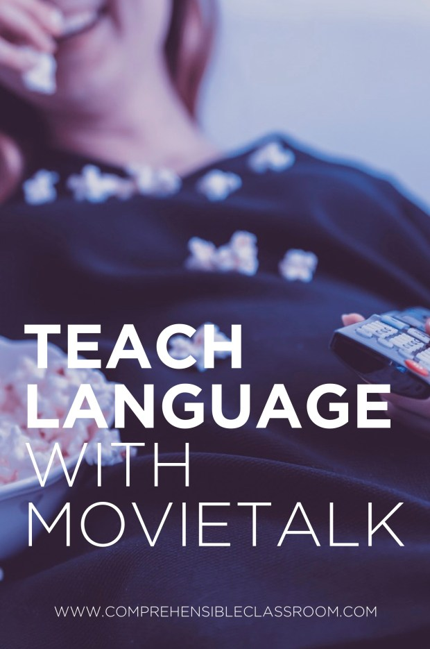 Teach language using movietalk, a strategy for delivering comprehensible input developed by Dr. Ashley Hastings