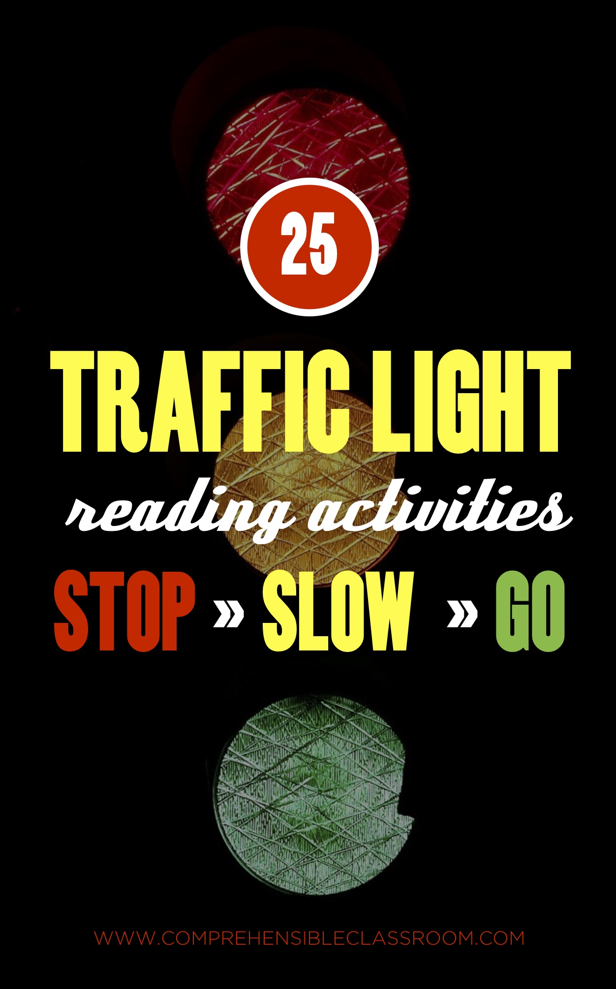 25 reading activities: some that STOP the reading process, others that SLOW the reading process, and others that let you GO and keep reading! Great for language classes.