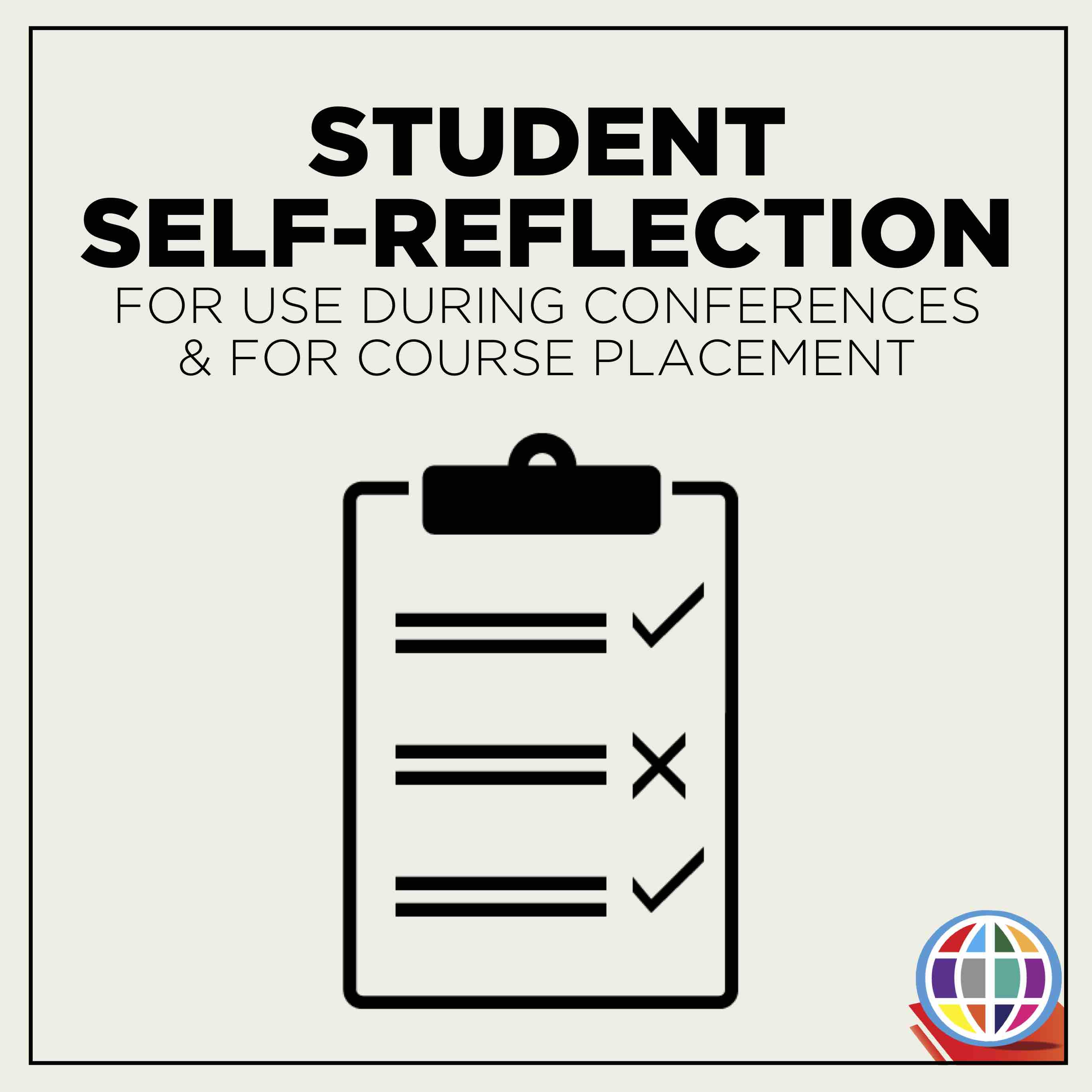 Student Self-Reflection Form - The Comprehensible Classroom
