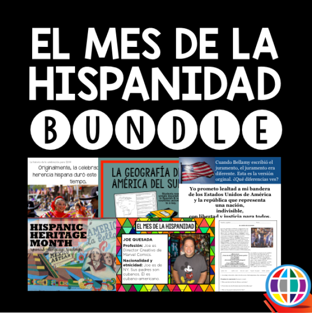 Get everything you need to celebrate Hispanic Heritage Month all month long in your Spanish classes with resources from The Comprehensible Classroom!