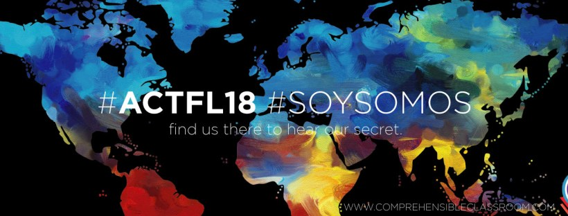 Follow #ACTFL18 #SOYSOMOS to connect with Martina Bex in New Orleans or follow from afar for a chance to win some great prizes!