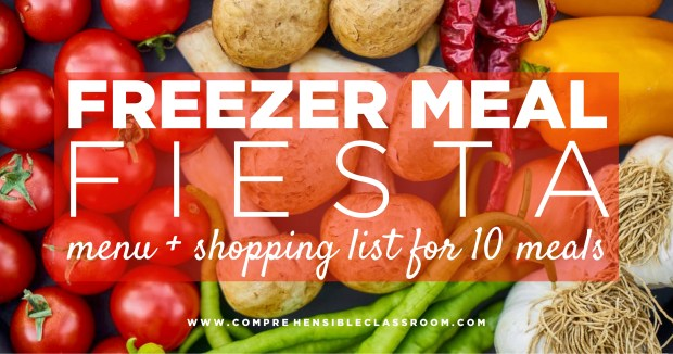 Freezer meals for busy teacher moms!