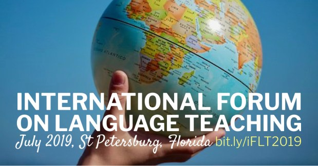 the International Forum on Language Teaching will take place in St. Petersberg, FL from July 15-18. Register before it sells out (tickets are usually gone by June)!