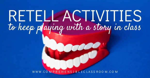 Shared a story in class and not ready to let go? Use these 3 'story regurgitation' activities to retell it in a new way!
