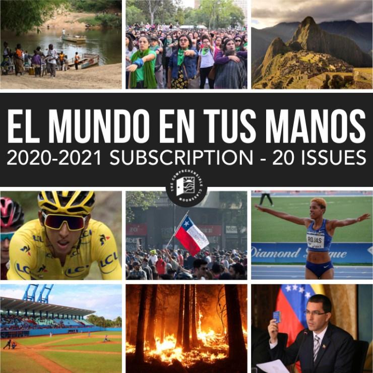 El mundo en tus manos is a news subcription for Novice and Intermediate Spanish students.