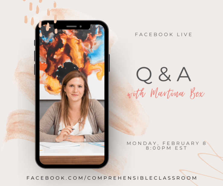 Attend a Facebook live with Martina Bex to get answers for your questions about purchasing curriculum