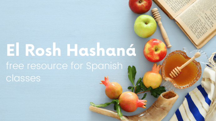 Rosh Hashanah freebie in French and Spanish for language classes
