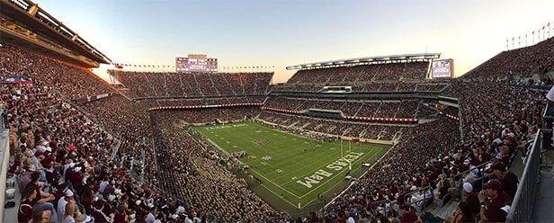 Kyle Field - un des 10 plus grands stades de football américain