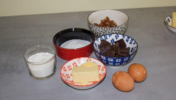 Ingrédient pour la partie du Brownies