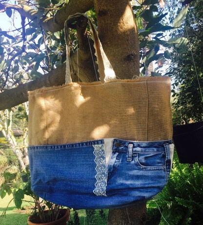 Transformer un jean en sac