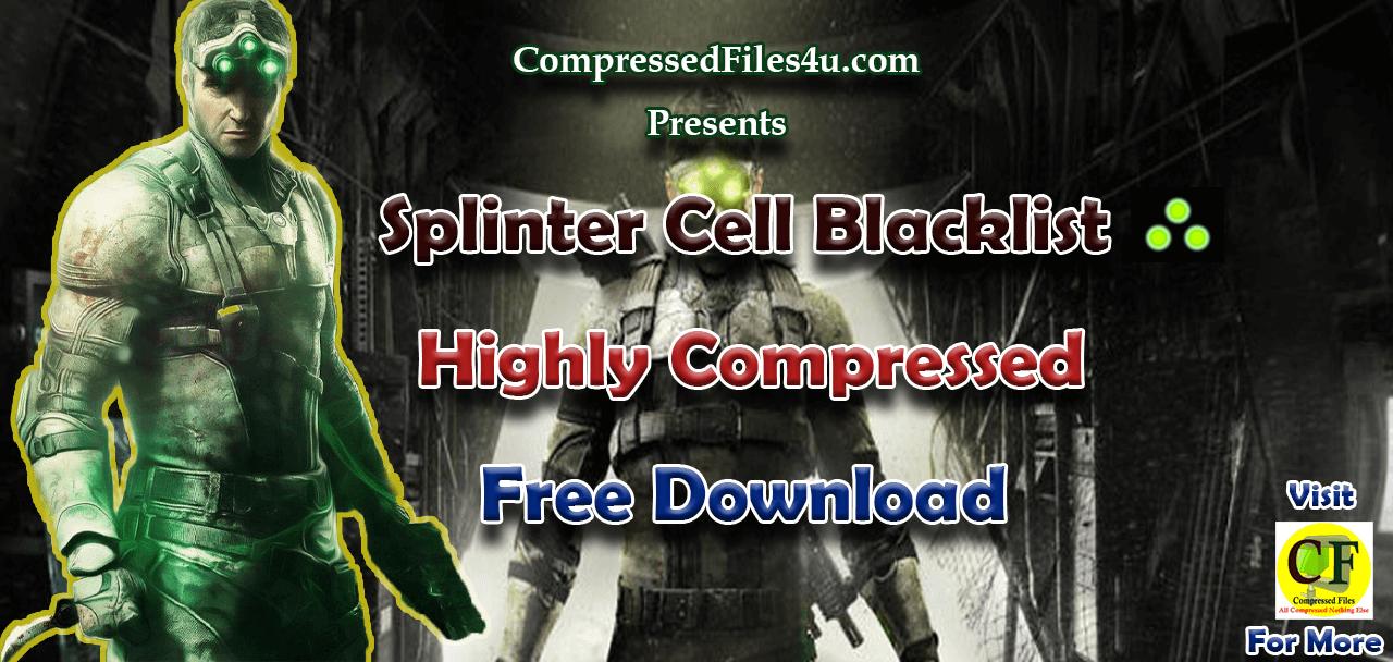 Splinter Cell Blacklist Highly Compressed
