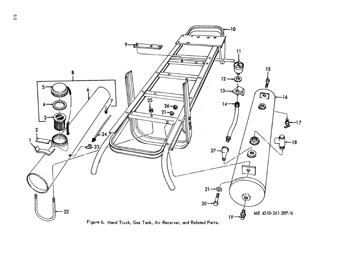Figure 6 Hand Truck Gas Tank Air Receiver And Related