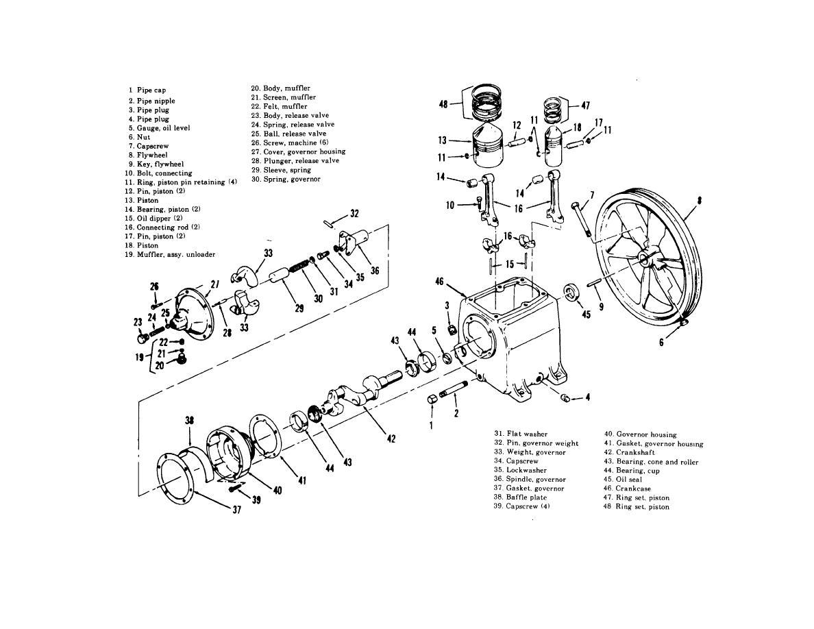 Figure 5 9 Crankcase Crankshaft Pistons Connecting