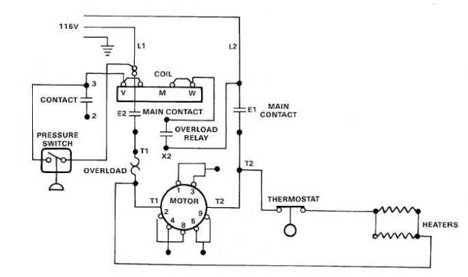 electric motor controls wiring diagrams 115v  tm54310