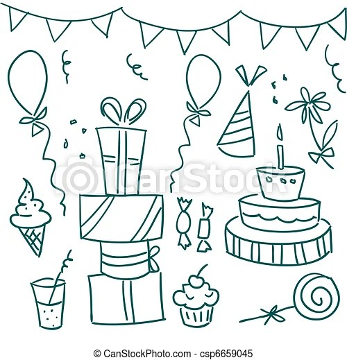 Birthday Celebration Drawing Images Drawing Tutorial Easy