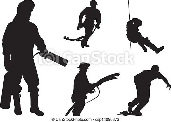 fireman silhouette clip art # 16