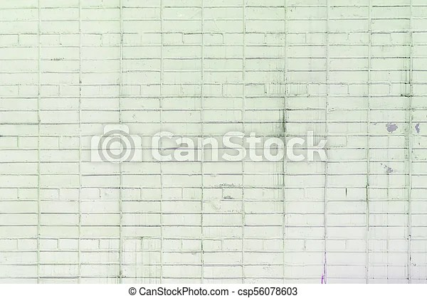 The Brick Wall Is Painted With A Pale Green Paint Pastel Calm Tone Empty Background